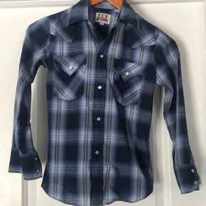 Boys size 10 snap up shirt